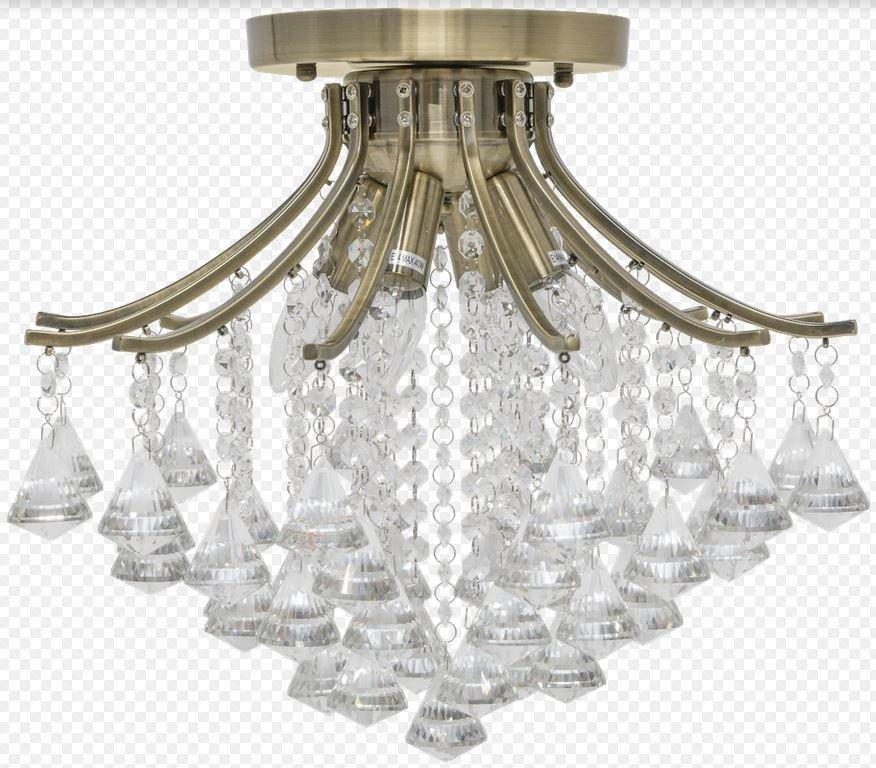 Elem Wenecja 51924 21QG mosiądz Lampa Sufitowa kryształowa