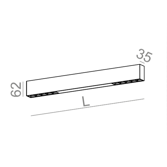 AQForm Rafter points section 133 cm biały Lampa Sufitowa