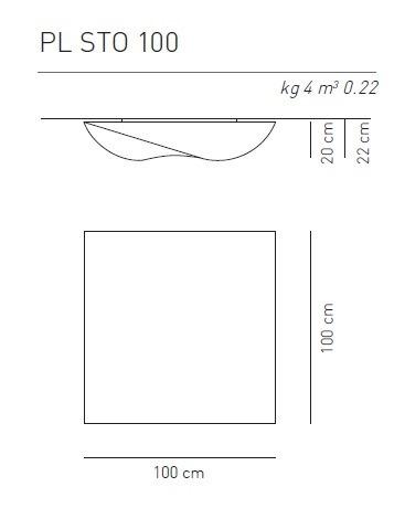AXO Light Stormy PL 100 nowoczesna Lampa Sufitowa biała 100 cm