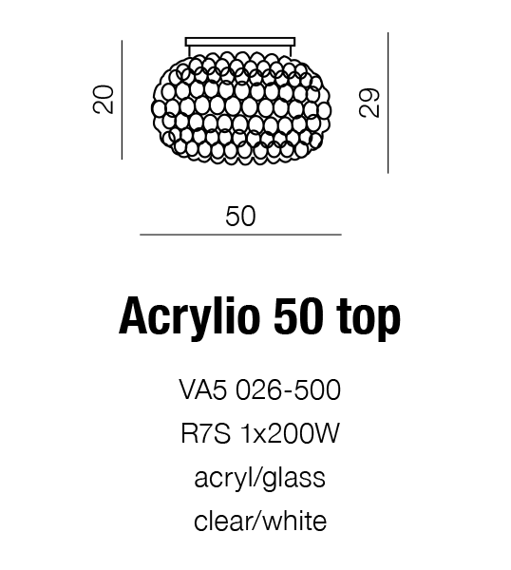 Acrylio 50 Top Plafon AZZARDO