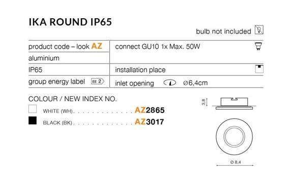Azzardo  Ika Round AZ2865 Oprawa Do Zabudowy