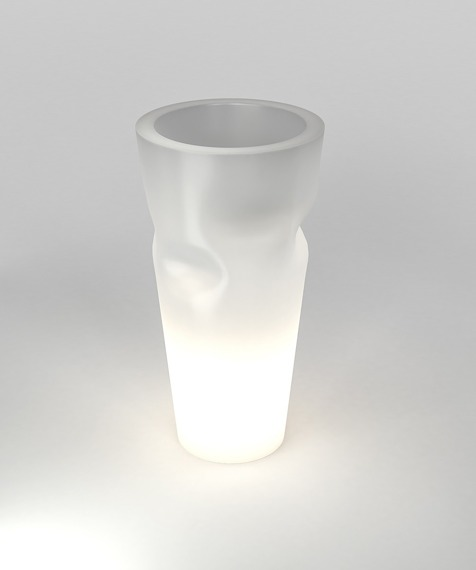 Bent ST-BENT69-LIGHT Biała PD Concept 69 cm Donica Podświetlana