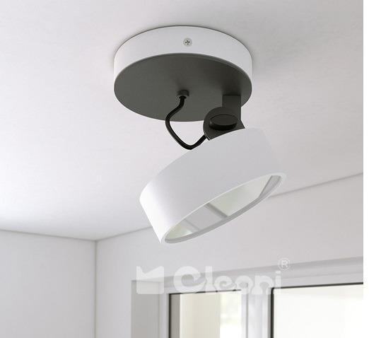 DOT Plafon/SPOT Cleoni Biały Mat 10W LED 970 lm