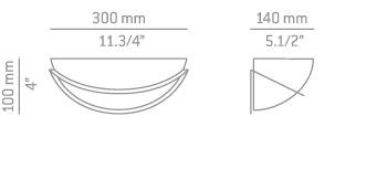 ESTILUZ A-8000 Lampa Ścienna niklowa