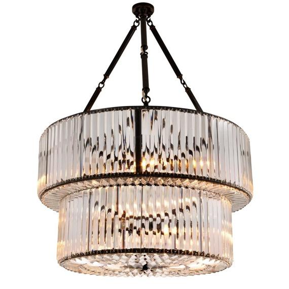 Eichholtz Infinity Double Lampa Wisząca Szklana 109667