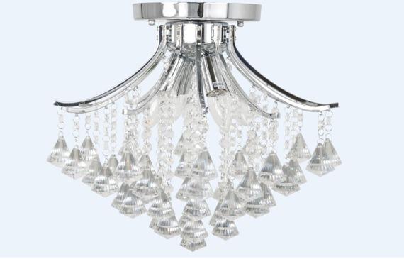 Elem Wenecja 5192/4 8C chrom Lampa Sufitowa kryształowa