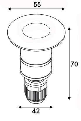Elkim GRUNT LED 001 Lampa najazdowa
