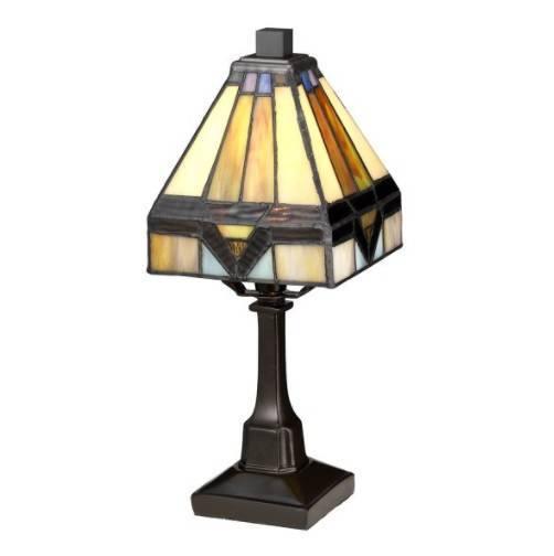 Elstead Lighting Holmes QZ-HOLMES-TL Witraż Lampa stołowa