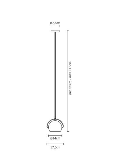Fabbian BELUGA STEEL D57 A07 15 Lampa wisząca