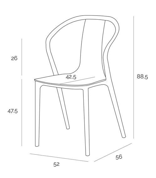 Krzesło Bella czarne/białe