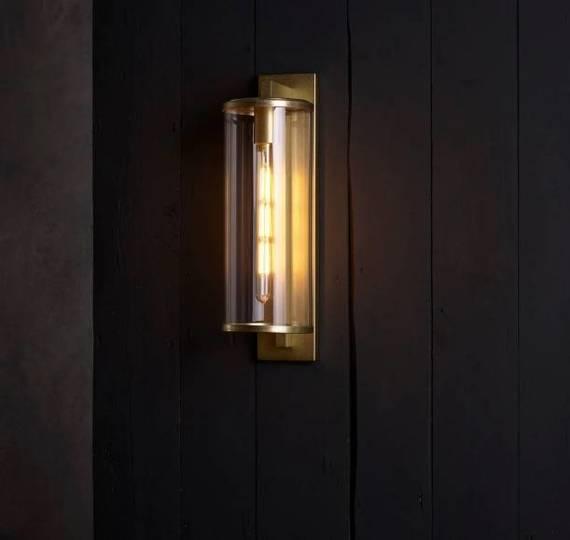 Lampa Ścienna Astro Pimlico 1413006 Mosiądz