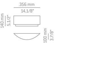 Lampa Ścienna Estiluz Iris A-2710 czarno/niklowa