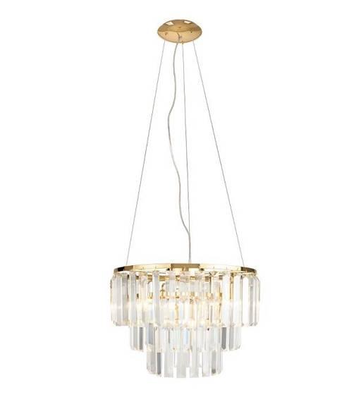 Lampa Wisząca Kryształowa Złota Maxlight Monaco P0423