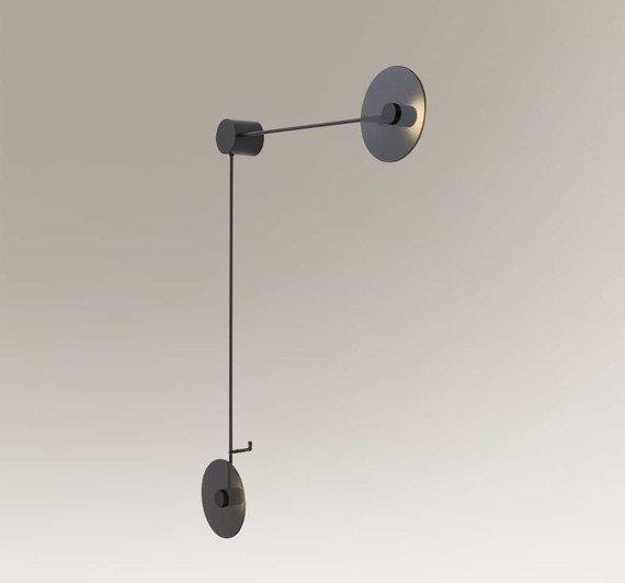 Lampa ścienna Podwójna Shilo Furano 7816-1 Czarny