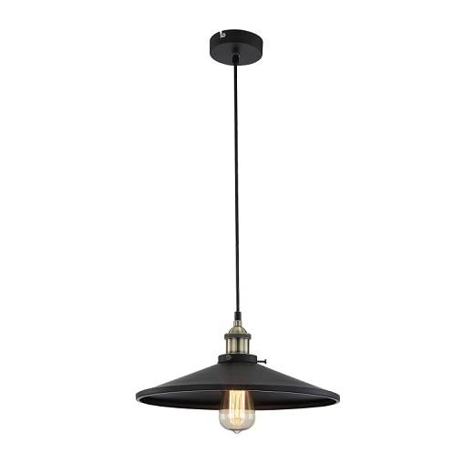 Lampa wisząca z czarnym metalowym kloszem Globo Lighting Knud 15060