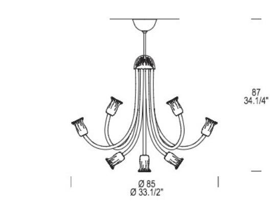 Leucos Art. 599 L 9 Lamap Wisząca Kryształowa