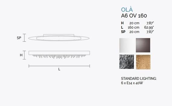 MASIERO Ola A6 OV 160 Lampa Ścienna biała