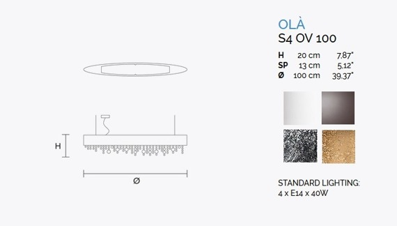 MASIERO Ola S4 OV 100 Zwis srebrny