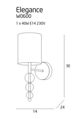 MaxLight Elegance W0600 Lampa Ścienna
