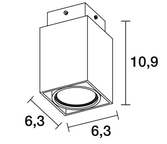 Novolux Exo Cubi 426B-G21X1A-01 Spot