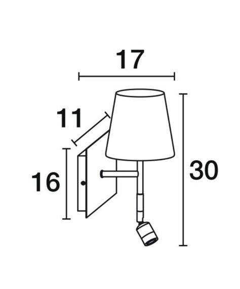 Novolux Exo Eda 596A-Y05X1A-32 Lampa ścienna