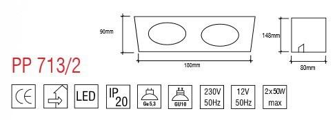 Oprawa Wpuszczana PP Design 713/2