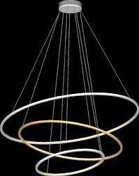 Ramko Echo 67761 Lampa wisząca Ring LED kolor czarny