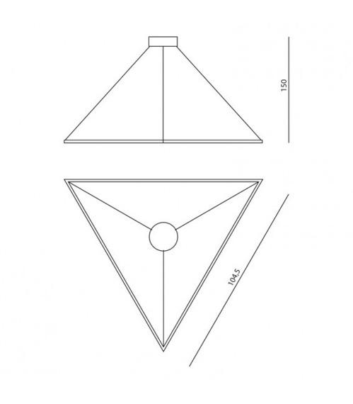 Ramko Origami Zwis Led 67032 biały