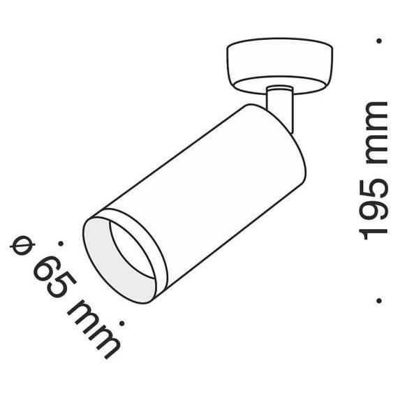 Reflektor kierunkowy Maytoni Focus C017CW-01W Biały