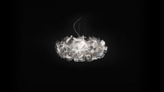 SLAMP CLIZIA fume 78 cm Lampa wisząca