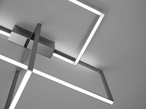 Sforzin Area Alluminio Plafon LED nowoczesny styl