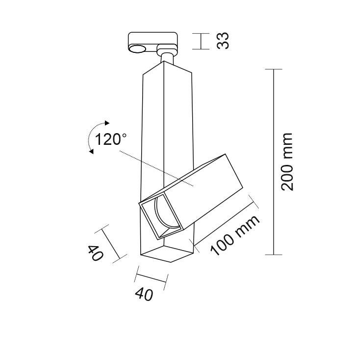 Shilo Mitsuma 7993 Reflektor regulowany do szynoprzewodu biały