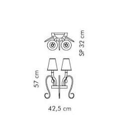 Sillux ELISABETH LP 6/284 Lampa Ścienna czarny/chrom
