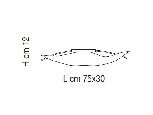 Sillux FIRENZE SILVER LS 5/212 Lampa Sufitowa 75 x 30 cm