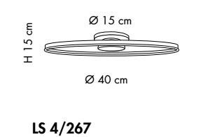 Sillux MALE LS 4/267 Lmapa Sufitowa LED 40 cm
