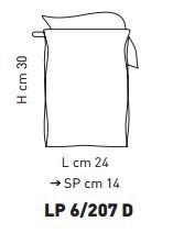 Sillux MURANO LP 6/270 D Lampa Ścienna 30 x 24 cm