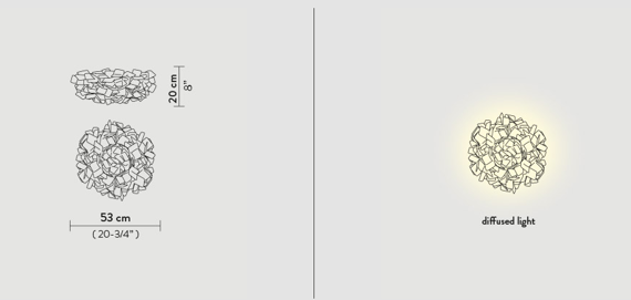 Slamp Clizia Pixel Plafoniera 53 cm