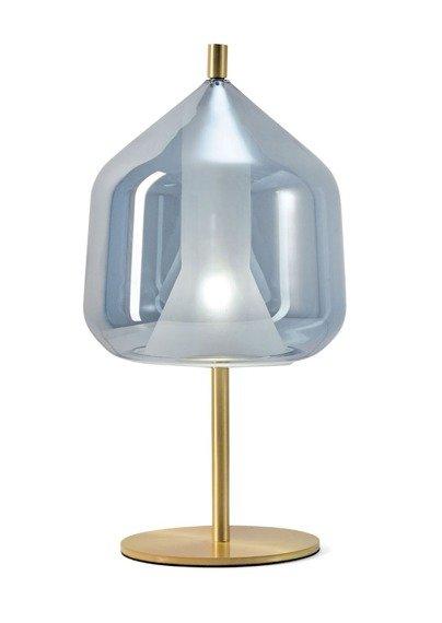 Złoto - błękitna Lampka stojąca Miloox X-Ray