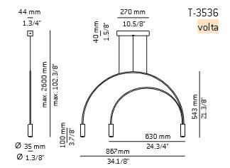 Zwis Estiluz Volta T-3536