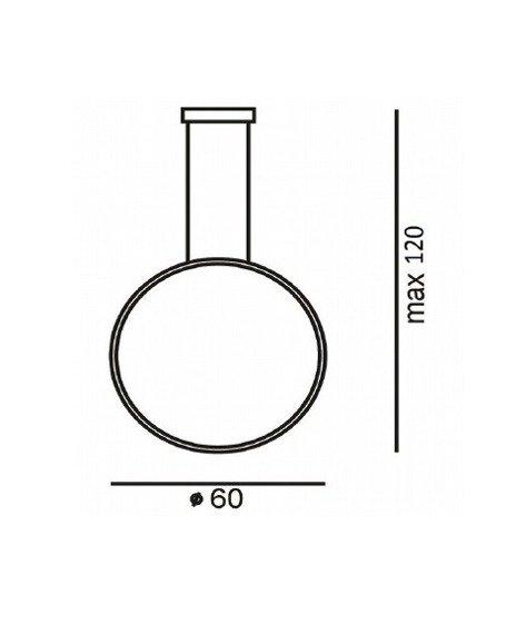 Zwis Ledowy Ramko Echo Vertical 67950 czarna 60 cm