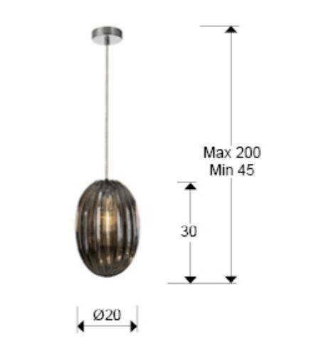 Zwis Schuller Ovila 752176 Dimmable