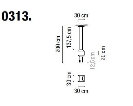Zwis Wireflow 0313-04 Vibia czarna 30 cm