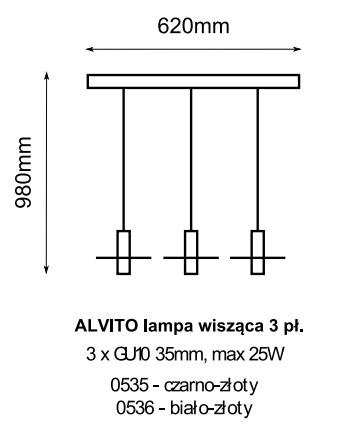 Żyrandol Amplex Alvito 0535