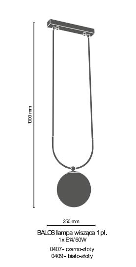 Żyrandol Amplex Balos 0407