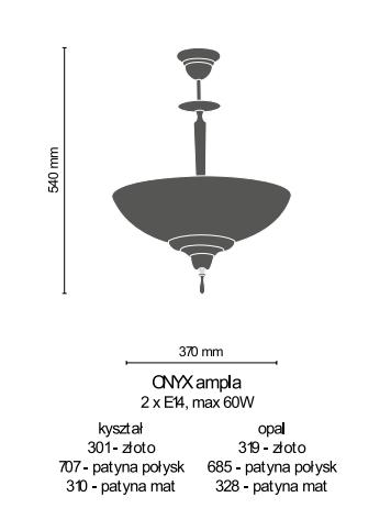 Żyrandol Amplex Onyx 685