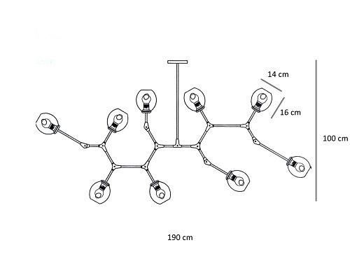 Żyrandol Berella Light Tabole 9