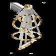 Lampa wisząca LED Azzardo Wheel AZ3138